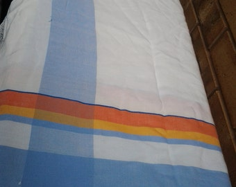 Vintage Damask Striped Table Cloth - 120cm square
