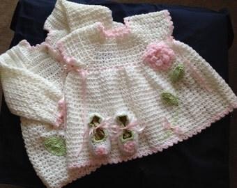 Sweater Set Crochet SALE! Half price!
