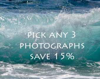 discount set photography Sale Set of 3 prints Save 15% gift set Print Set Discounted Set of three photos gift set fine art photo print