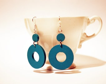 Earrings turquoise pendants