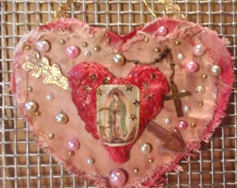 GUADALUPE  HEART Art ORNAMENT