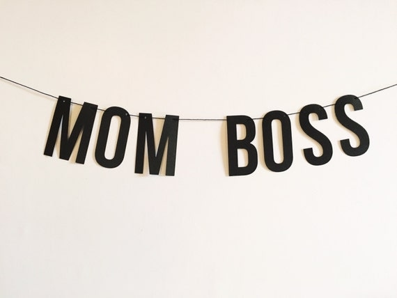 Mom Boss Word Banner Home Decor Party Decorations Moms
