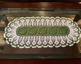 Winter Crochet Doily - Crochet Lace Doily - Handmade Doilies - Home Decor - Pineapple Crochet Doily - Christmas Decor - Wedding Gift