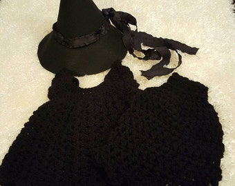 Wizard of Oz Witch 0-3 months Crochet Outfit