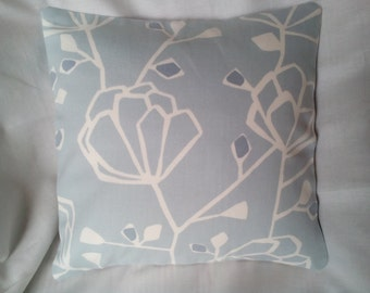 100% Cotton 30 x 30 Cushion/Pillow Cover, Blue and Cream