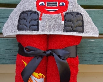 Monster truck hooded towel - Personalized - Boys hooded towel - truck- beach towel- bath towel FREE SHIPPING