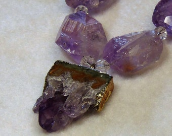 Amethyst Matrix Pendant necklace