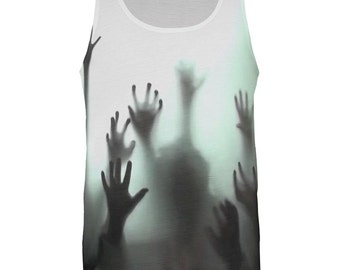 Zombie Hands All Over Adult Tank Top
