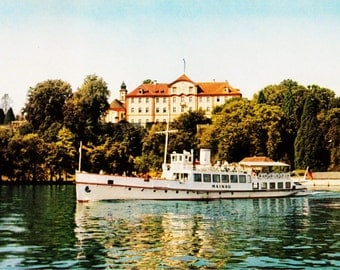 "Vintage 1960s Postcard Mainau Tour Boat Lake Constance Konstanz, Germany 4"" x 6"""