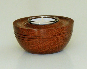 Brown ebony tea light holder