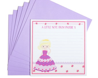 Personalised Princess Notecards