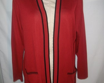Vintage Exclusively Misook Long Sleeve Open Front Cardigan Sz 10