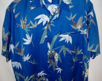 Vintage 70's Tori Richard Libertyh House Hawaiian Shirt Sz L