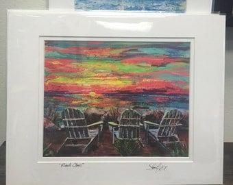 Paper Print Beach Chairs