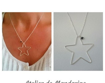 Necklace Star Silver 925 thousandth or plate yellow gold