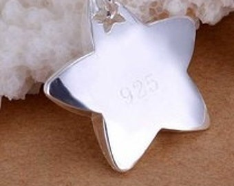 925 sterling silver star pendant