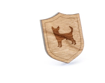 Chihuahua Lapel Pin, Wooden Pin, Wooden Lapel, Gift For Him or Her, Wedding Gifts, Groomsman Gifts, and Personalized