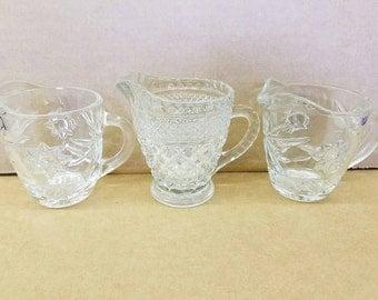 Miniature Cut Glass Pitchers (Set of 3)