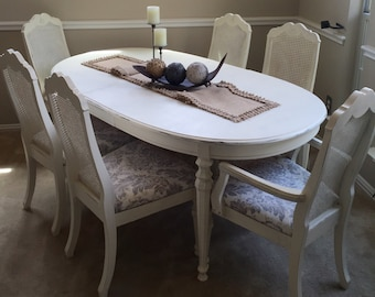 Dining Table and Cane Chairs