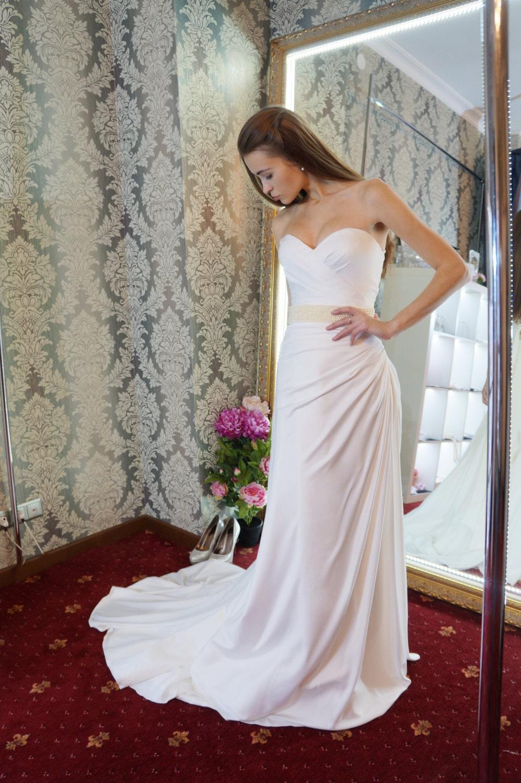 Seide Brautkleid Ariel Hochzeitskleid trägerlosen
