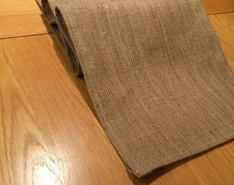 Hessian Table Runner, Fully Hemmed, 35cm Wide, Perfect For Wedding Table Decoration, NEW