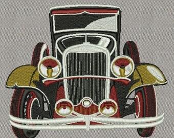 Classic car machine embroidery designs