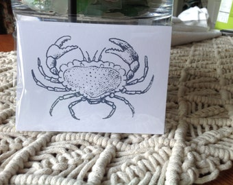 Crab Notecards, Crabs, Nautical Cards, Beach cards, Beach