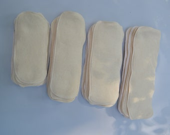 4 hemp cloth diaper inserts / liners / doublers / soakers