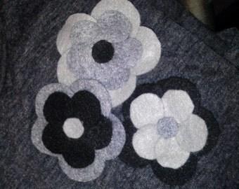 Flower pins, Set of 3