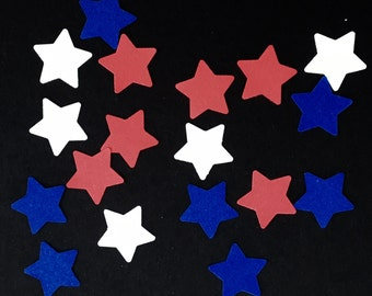 225 Star Confetti Red White and Blue Confetti Birthday Confetti Party Confetti 4th of July Confetti Patriotic Confetti Die Cut Punch