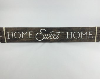 Wooden Sign With Quotes, Wooden Sign for Home, Wooden Signs, Wood Signs, Rustic Sign - Home Sweet Home