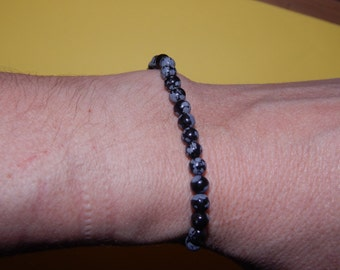 Bracelet spotted obsisienne