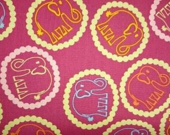 FreeSpirit Designer Valori Wells  Bridgette Lane  Bouncing Elephants Cotton Fabric