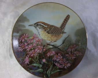 Carolina Wren plate - Songbird of the South collection