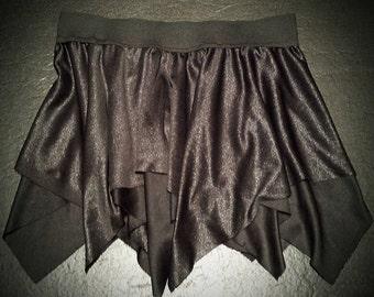 Black with Sparkles Layered Skirt (Pixie, Festival, Fairy)