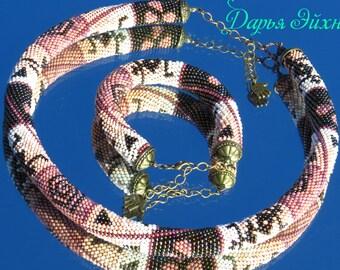 Jewelry set beaded