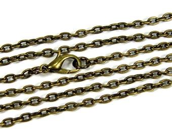 BASIC chain length selection 45-100 cm bronze colors