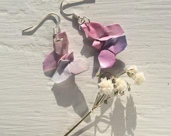 Origami Butterfly Earrings- Pink