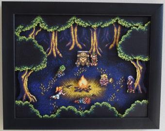"Chrono Trigger (SNES) - ""Fiona's Forest"" 3D Shadow Box"
