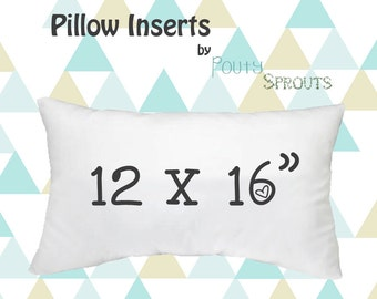Faux Down Pillow Inserts, Soft Throw Pillows, Lumbar Size Pillow Cushions, Couch Pillows, Throw Pillow Inserts, 12x16""