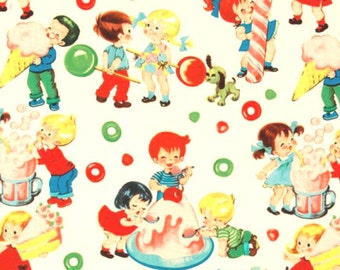 Michael Miller Candy Shop - Novelty Sweets, Desserts and Lollipop Fabric - Per 1/2 metre - 100% Cotton