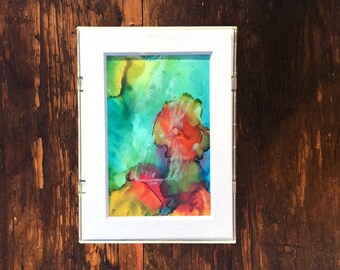 Pillars of Creation alcohol ink original painting / wall art / framed art