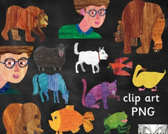 Brown Bear What Can You See Clipart - Eric Carle