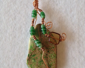 Green and Copper pendant