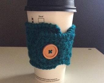 Crochet coffee cup mug cozy, tea gift, coffee gift, office gift, crochet cup cozy, coffee cup sleeve, teachers gift, mug warmer