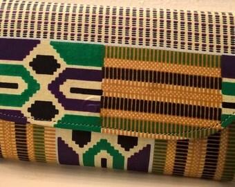 african print clutch bag