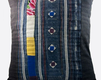 Vintage Hmong Hill Tribe Pillowcases (set of 2)