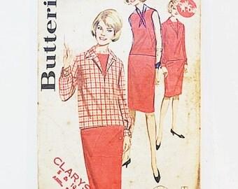 60s Two Piece Dress Pattern | Butterick 2805 60s Dress Pattern | 60s Sewing Pattern