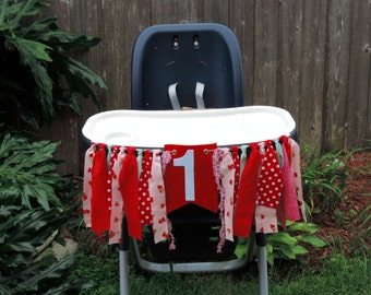 Stawberry Shortcake 1st Birthday Party High Chair Banner