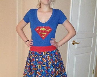 Supergirl Cosplay outfit - skirt and top